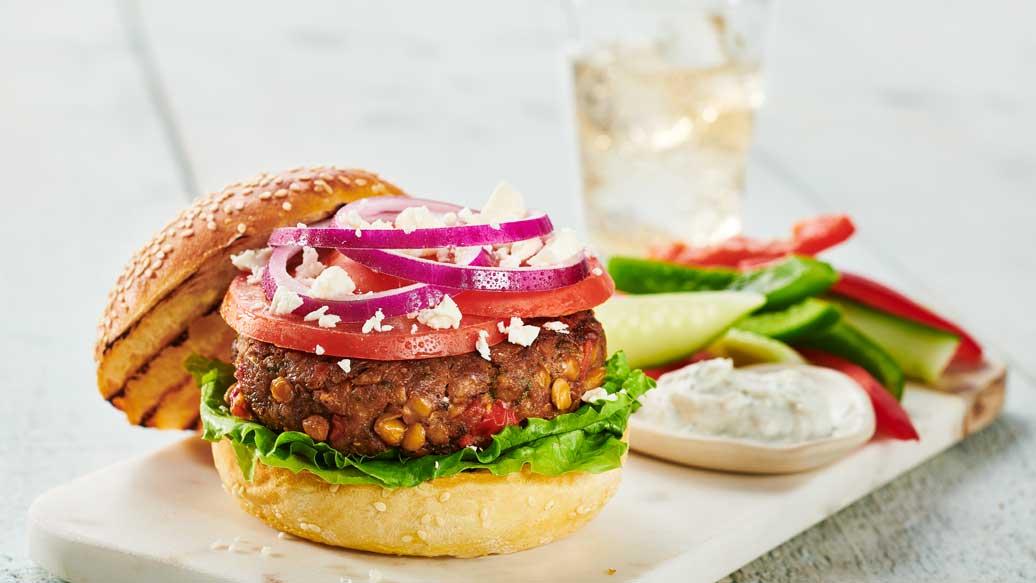 Lentil & Beef Burger