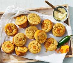 Muffins au maïs cheddar et jalapeno