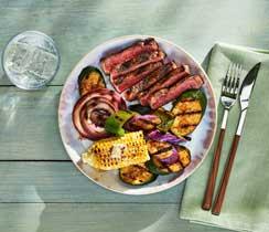 Bifteck et légumes grillés dynamo
