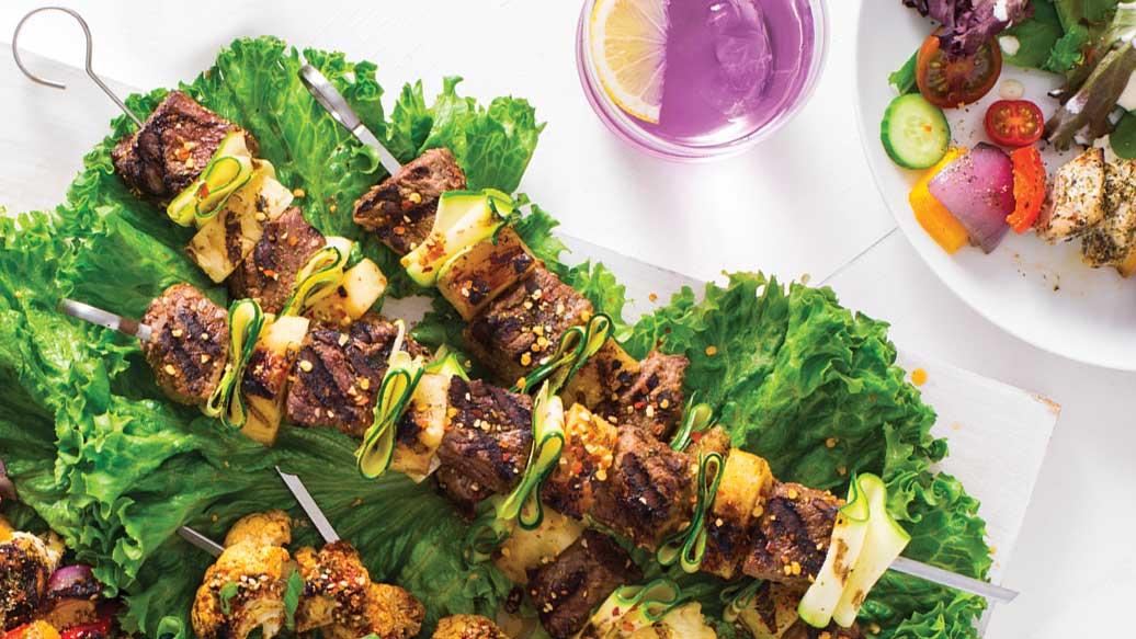 Asian Beef & Pineapple Kebabs