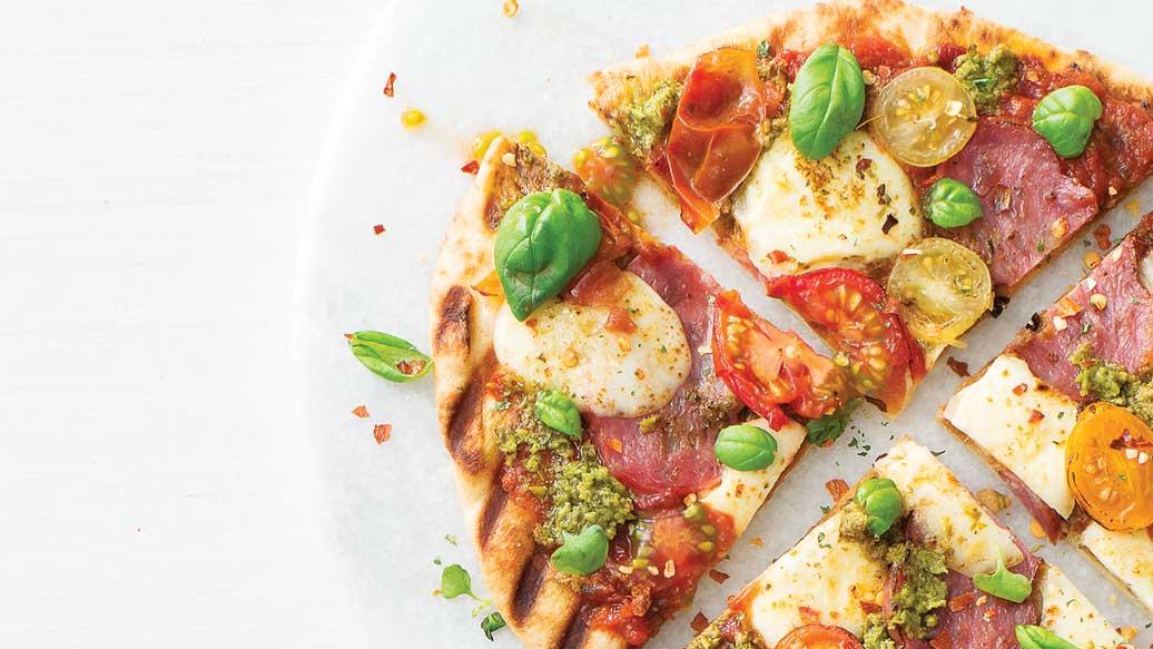 Tuscan Tomato & Salami Pizza