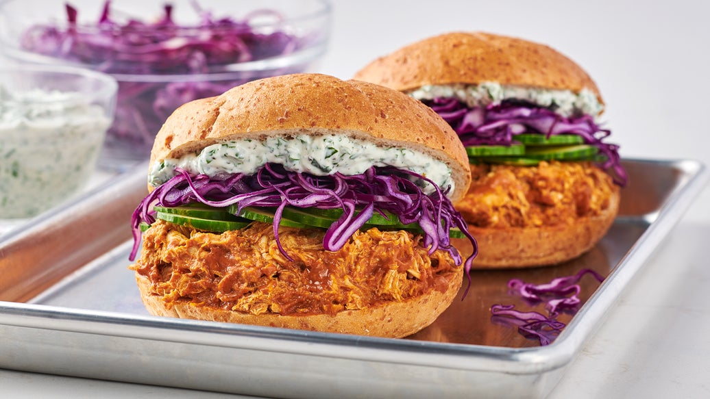 Pulled Butter Chicken Sandwich