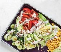 Sheet Pan Cobb Caesar Salad