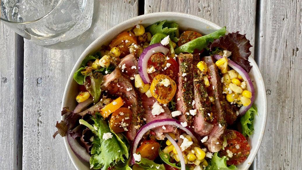 Grilled Steak Salad Bowls