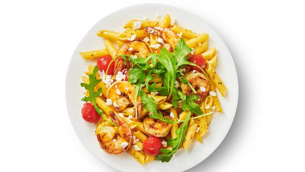 Garlicky Shrimp Pasta