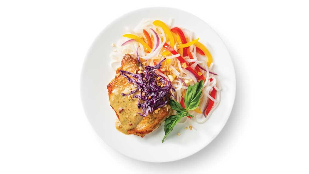 Thai Satay Pork Chops