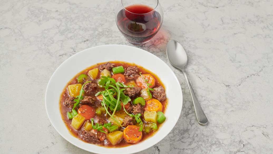 Quick Rosemary & Garlic Beef Stew