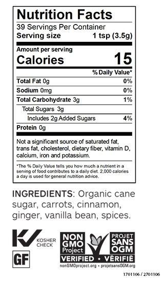 Carrot Cake Sweet Dip Mix