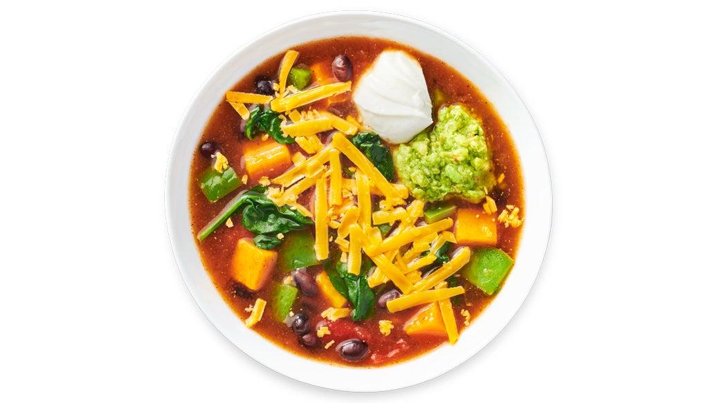 Sweet Potato Enchilada Soup