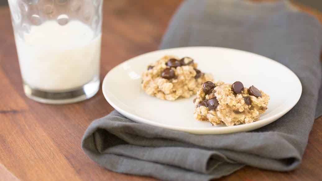 Biscuits aux bananes et pépites de chocolat