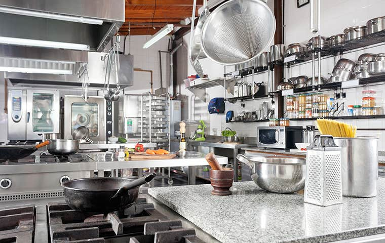 inside a commercial kitchen in maine