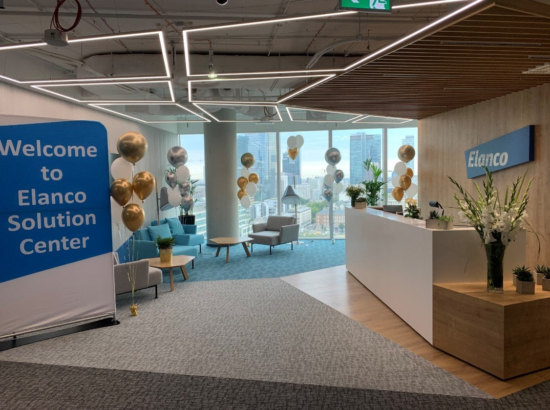 Welcome to Elanco Solution Center reception area photo