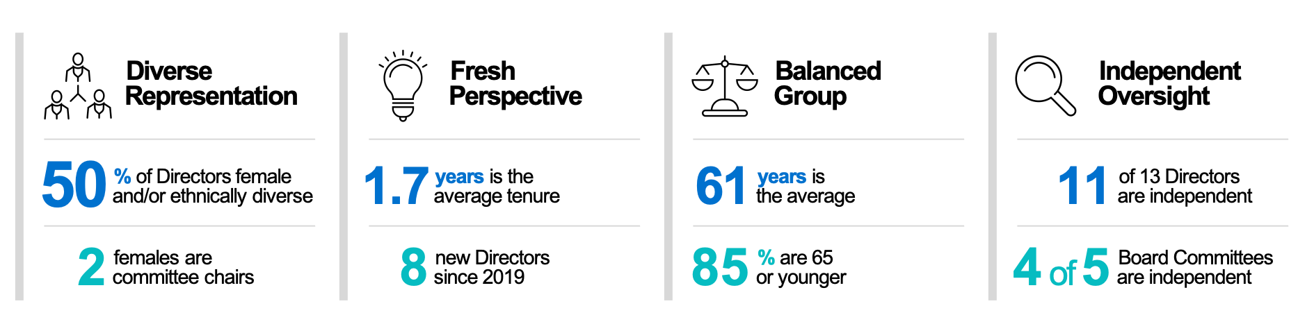 Board of Director highlights graphic