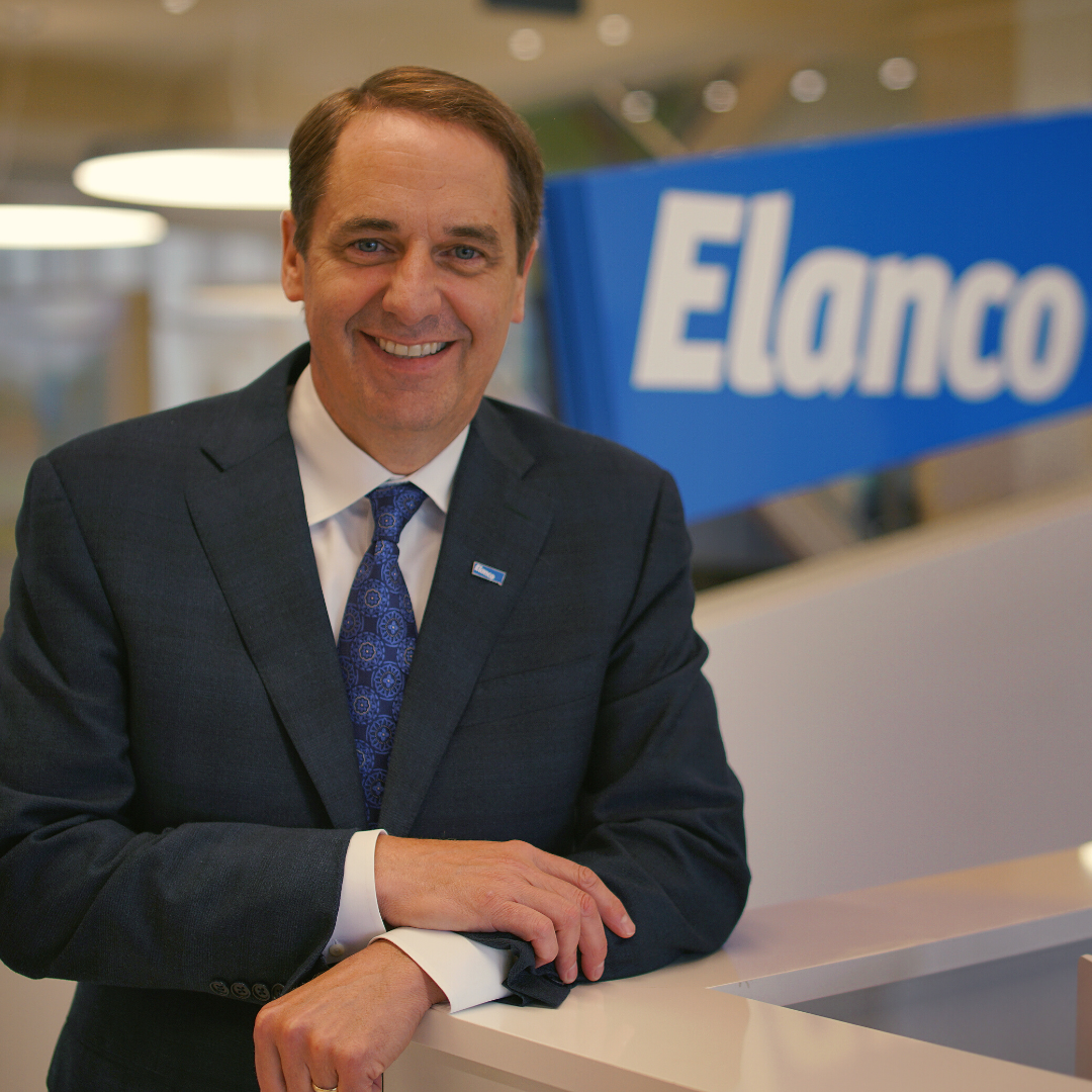 picture of jeff simmons in front of the Elanco logo