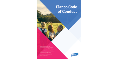 Elanco Code of Conduct front cover of booklet