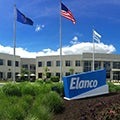 Image of Elanco's headquaters sign outside