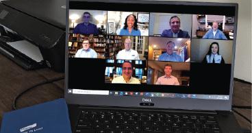 Elanco's Executive Committee on a virtual call