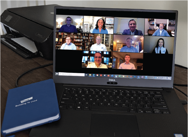 Elanco Executive Committee on a Zoom call