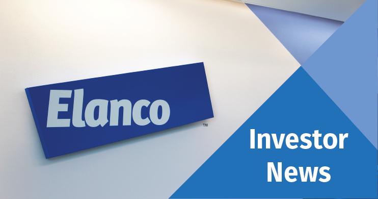 Elanco logo in a graphic reading Investor News
