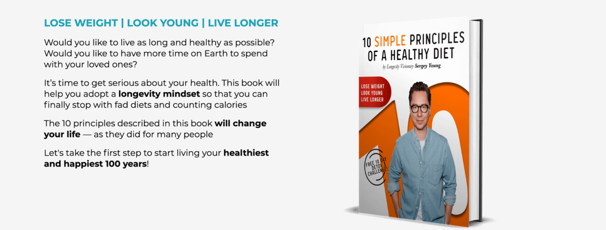 Book cover - 10 SIMPLE PRINCIPLES OF A HEALTHY DIET