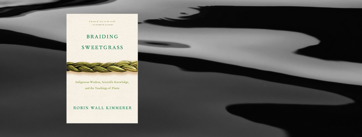 Front cover of book - Reading Sweetgrass by Robin Wall  Kimmerer