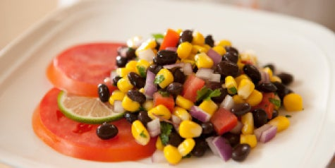 Bean salad - black beans, corn and more