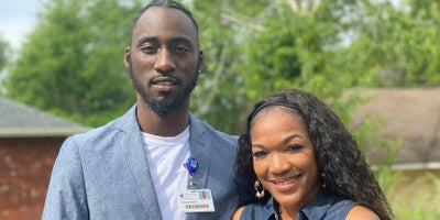 Meet Christopher Snow and Brittney Anderson, siblings who work at Baptist and live our Values.