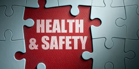 health and safety words in a puzzle piece
