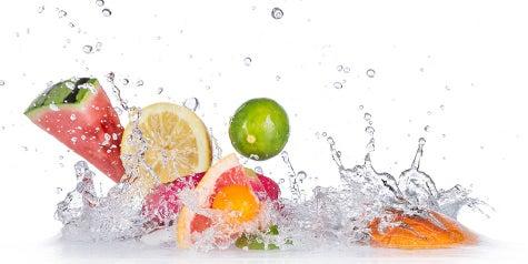 Splash of fruit - watermelon, lemon, lime and orange