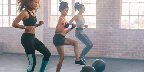 Women doing fitness in a gym