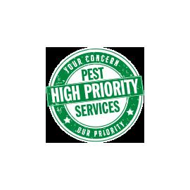 high priority pest services logo