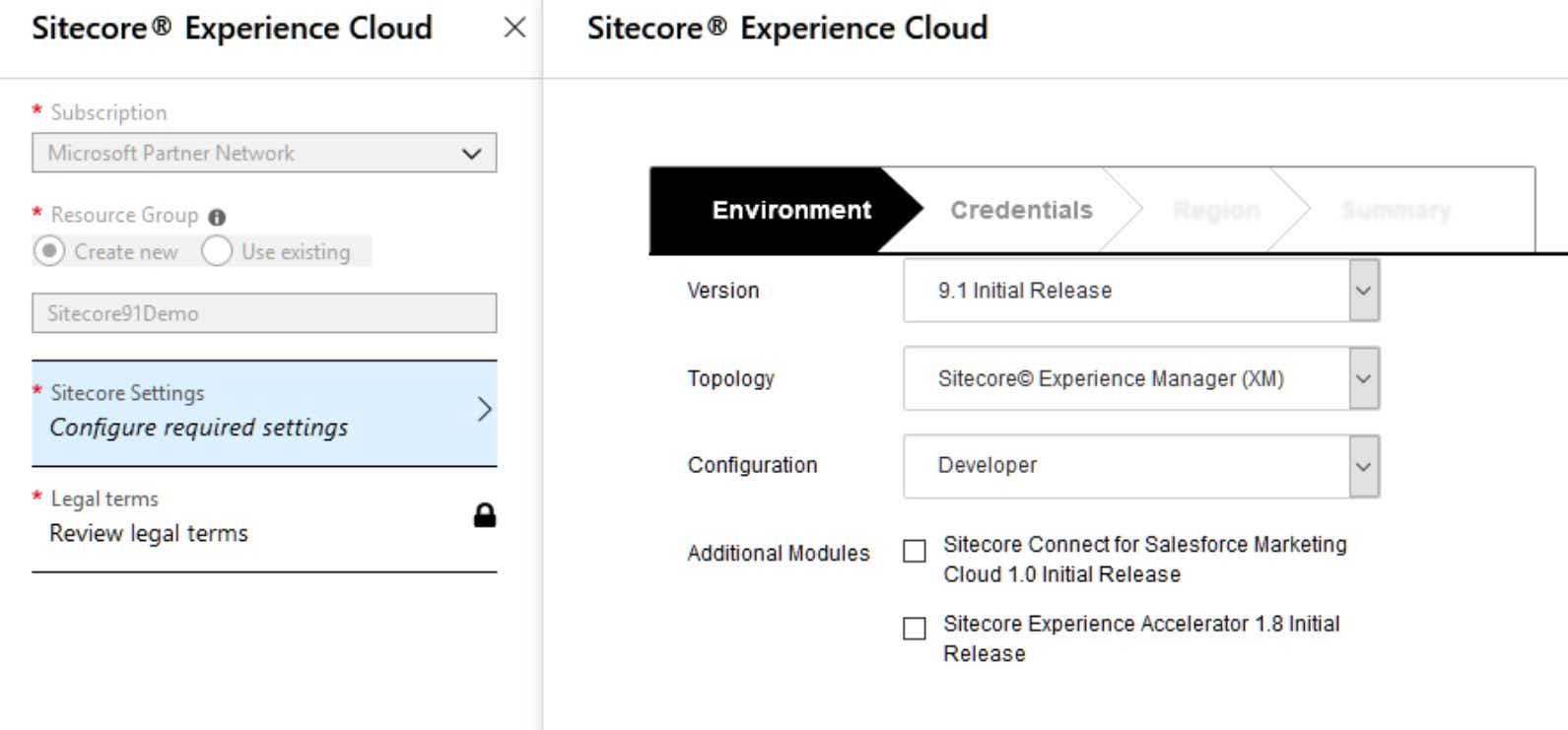 Configure Sitecore Environment on Azure