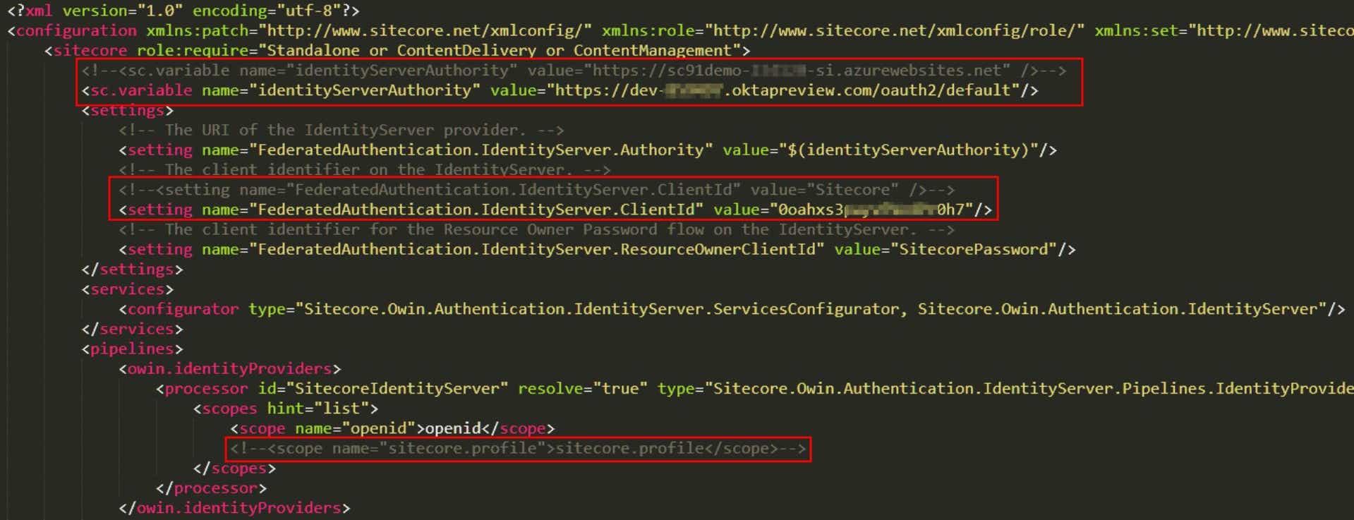 Adjust Sitecore Configuration to use Okta as Login Provider