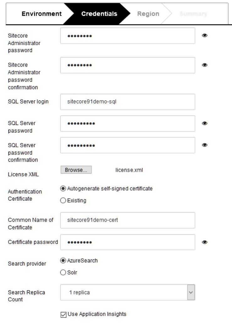 Configure Sitecore Credentials on Azure