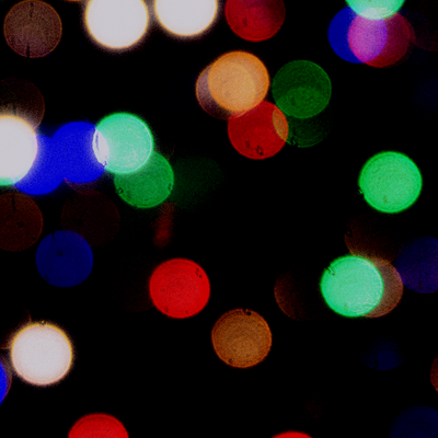 A blur of Christmas lights