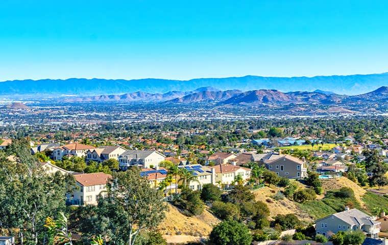 skyline view of inland empire california
