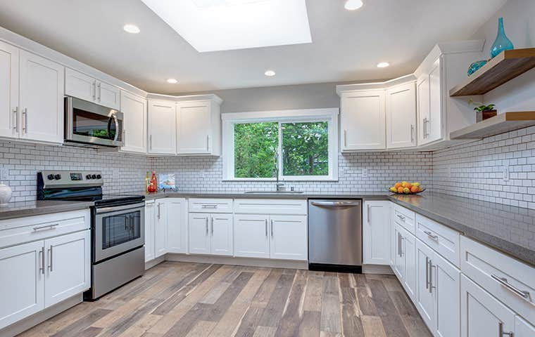 a clean residential kitchen