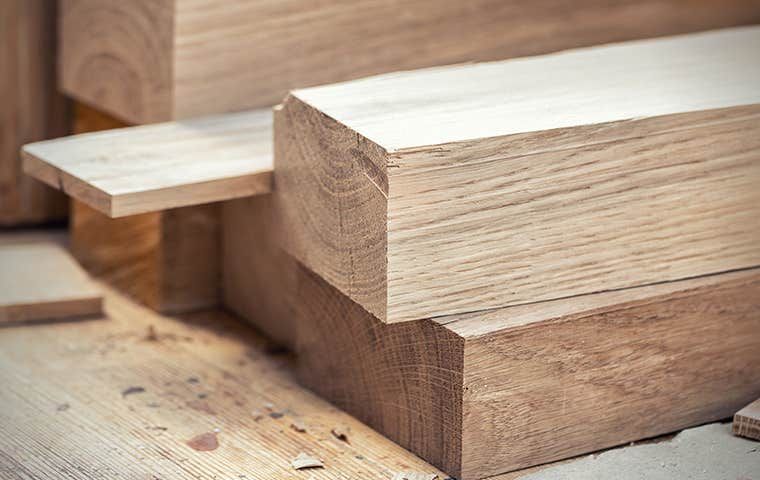 pieces of cut wood