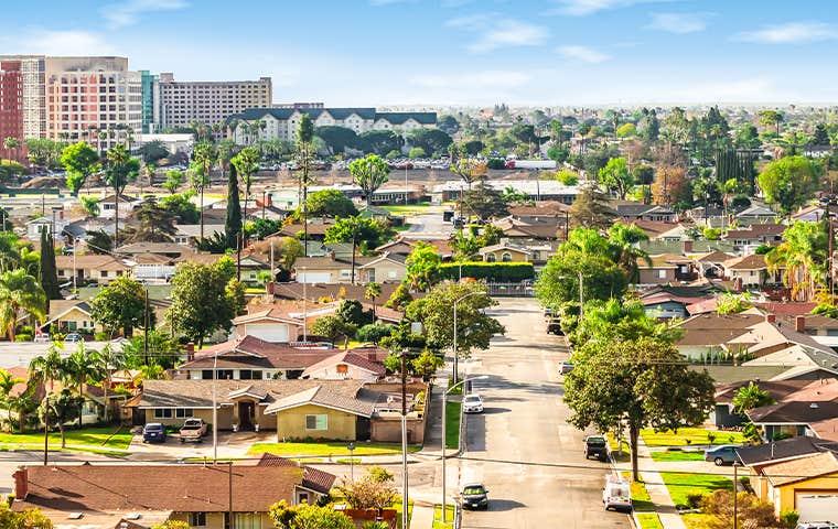 skyline view of orange county california