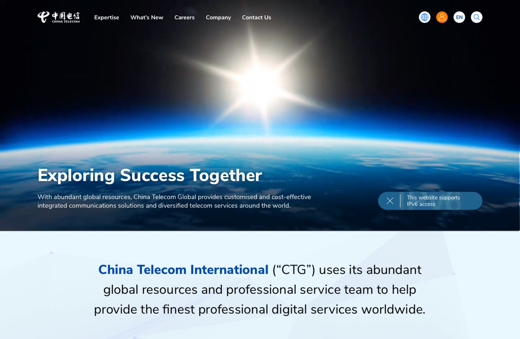 Bringing China's preeminent network to the world stage.