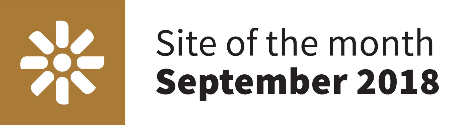 Kentico Site of the Month logo