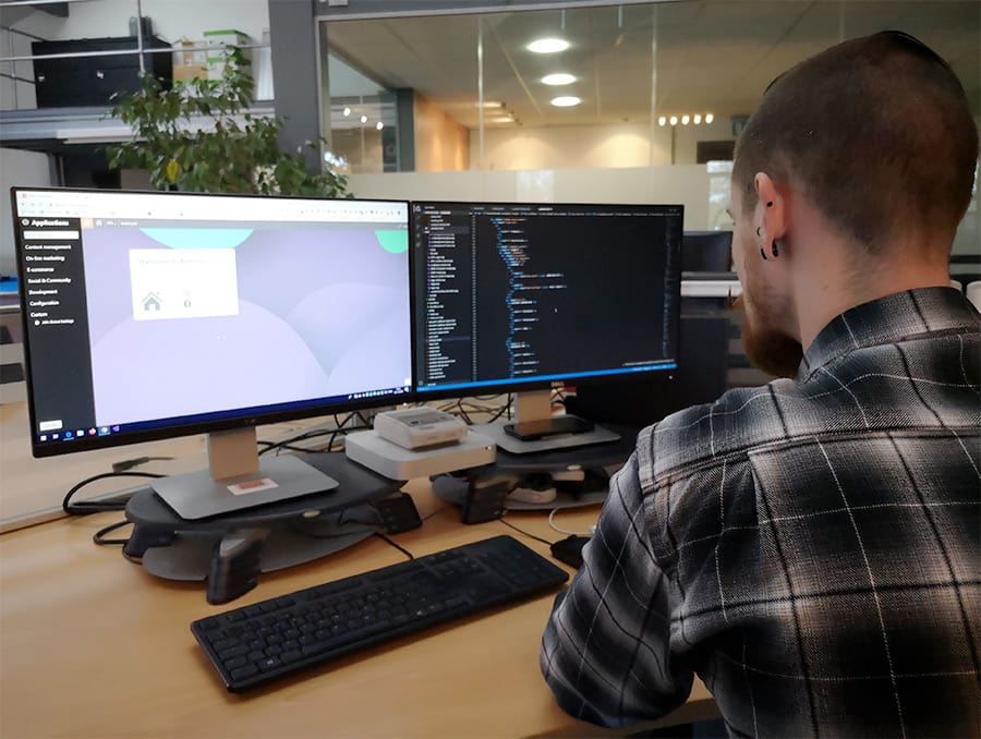 Stephen Currie at i3 Digital working on a Kentico CMS