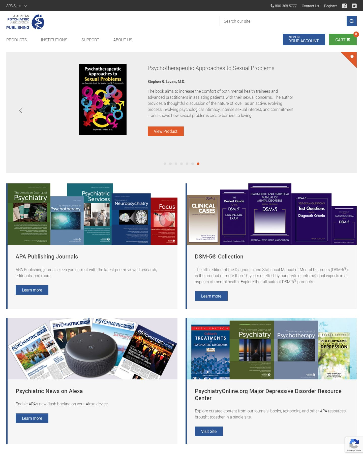 The American Psychiatric Association Publishing (APAP) - website screenshot