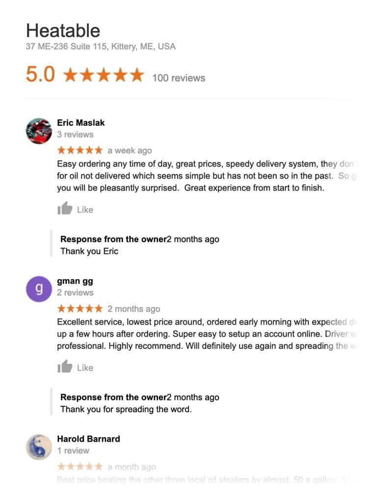 Heatable - website reviews - i3 Digital case study