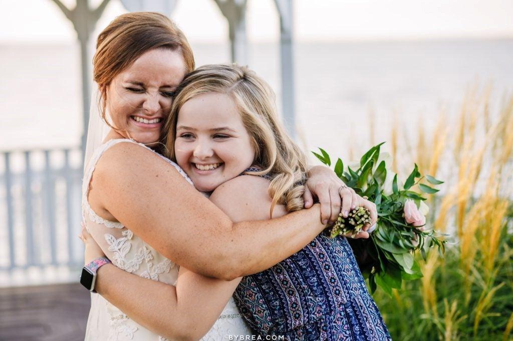 Sarah Aiken and Patient DKMS hug