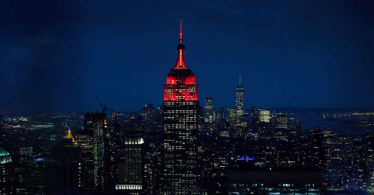 Empire State Building red for DKMS