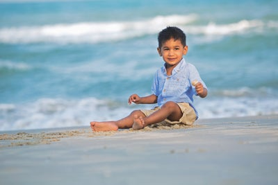 Veer DKMS patient at the beach