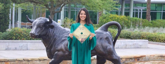 Sneha at her graduation ceremony
