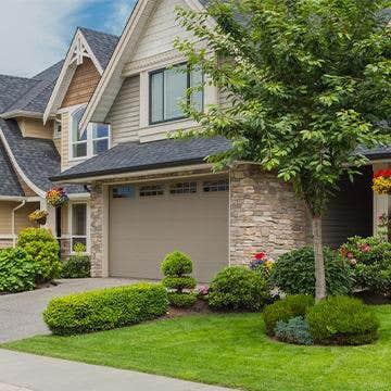 home in residential neighborhood
