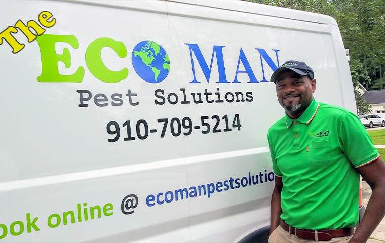 eco man pest solutions technician in durham north carolina